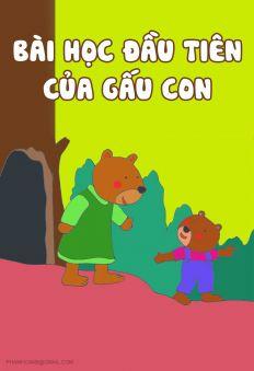 Biết lắng nghe: Bài học đầu tiên của gấu con